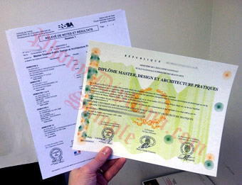 Diplome Master - Fake Diploma Sample from France