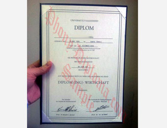 University of Mannheim - Fake Diploma Sample from Germany