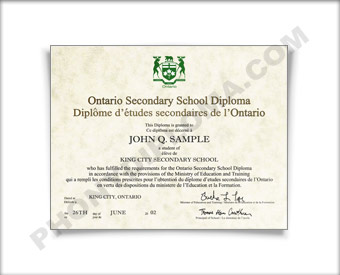 Canada HS Diploma Design #1 HS Can 1 D