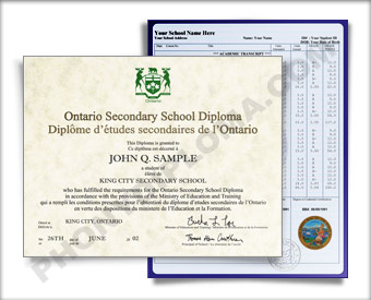 Canada HS Diploma and Transcripts Design #1 HS D+T Can 1