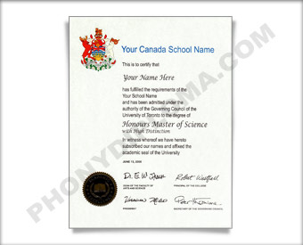 Fake Diploma from Canadian University Canadian D