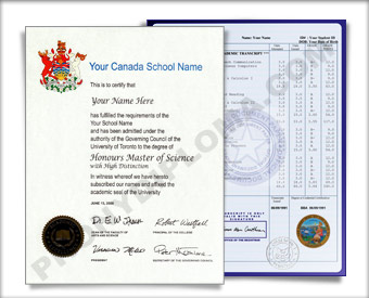 Canada HS Diploma and Transcripts Design #2 HS D+T Can 2