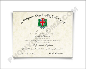Canada HS Diploma Design #4 HS Can 4 D