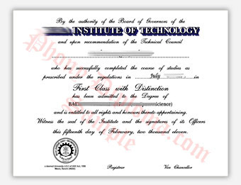 Birla Institute of Technology - Fake Diploma Sample from India