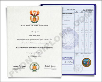 Fake Diploma and Transcripts from African University Africa D&T
