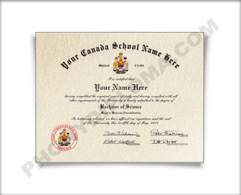 College Diploma, Canada Design #1 Col Can 1 D