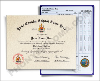 Fake Diploma and Transcripts from Canada University Canada D&T