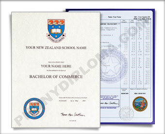 International College  Diploma and Transcripts, New Zealand Design #1 INT NewZealand 1 Dip + Tran