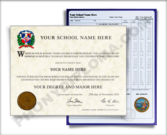 Fake Diploma and Transcripts from Dominican Republic University Dominican Republic D&T