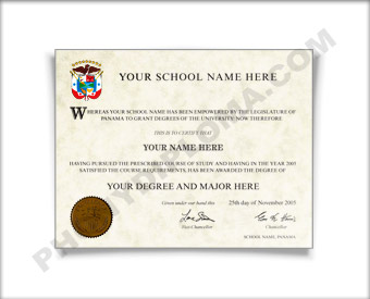 Fake Diploma from Panama University Panamanian D