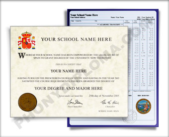 Fake Diploma and Transcripts from Spain Spain D&T