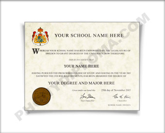 Fake Diploma from Sweden University Sweden D