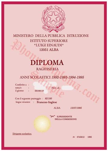 Fake diploma from italian university phonydiploma certificate fake diploma yelopaper Images