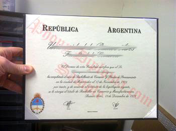 Fake Diploma from Argentina University Argentina D