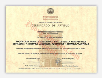 Fake Diploma Samples from Spain