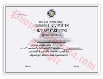 Ankara Universitesi - Fake Diploma Sample from Turkey