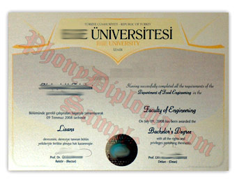 Ege Universitesi - Fake Diploma Sample from Turkey