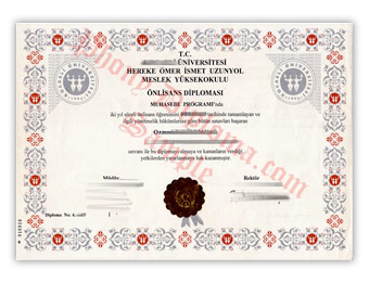 Kocaeli Universitesi - Fake Diploma Sample from Turkey