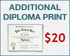 Additional Diploma Print - $55