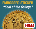 "Embossed Sticker ""Seal of the College"""