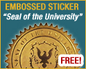 "Embossed Sticker ""Seal of the University"""