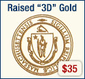 Raised 3D Gold + $35
