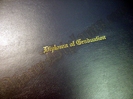 Fake Diploma Padded Folder