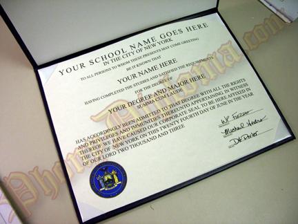 Fake Diplomas Presentation Folder