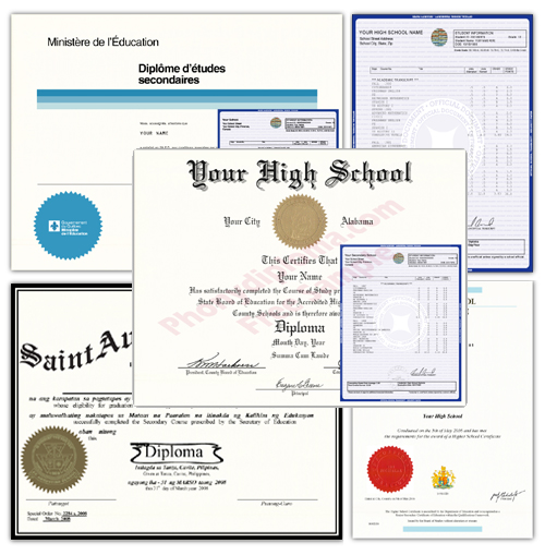 Order Fake High School Diplomas at PhonyDiploma