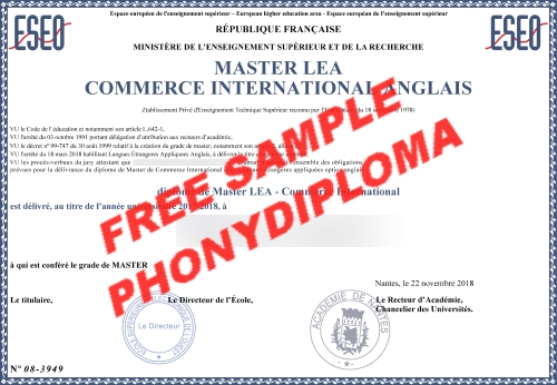Academie De Nintes Free Sample From Phonydiploma