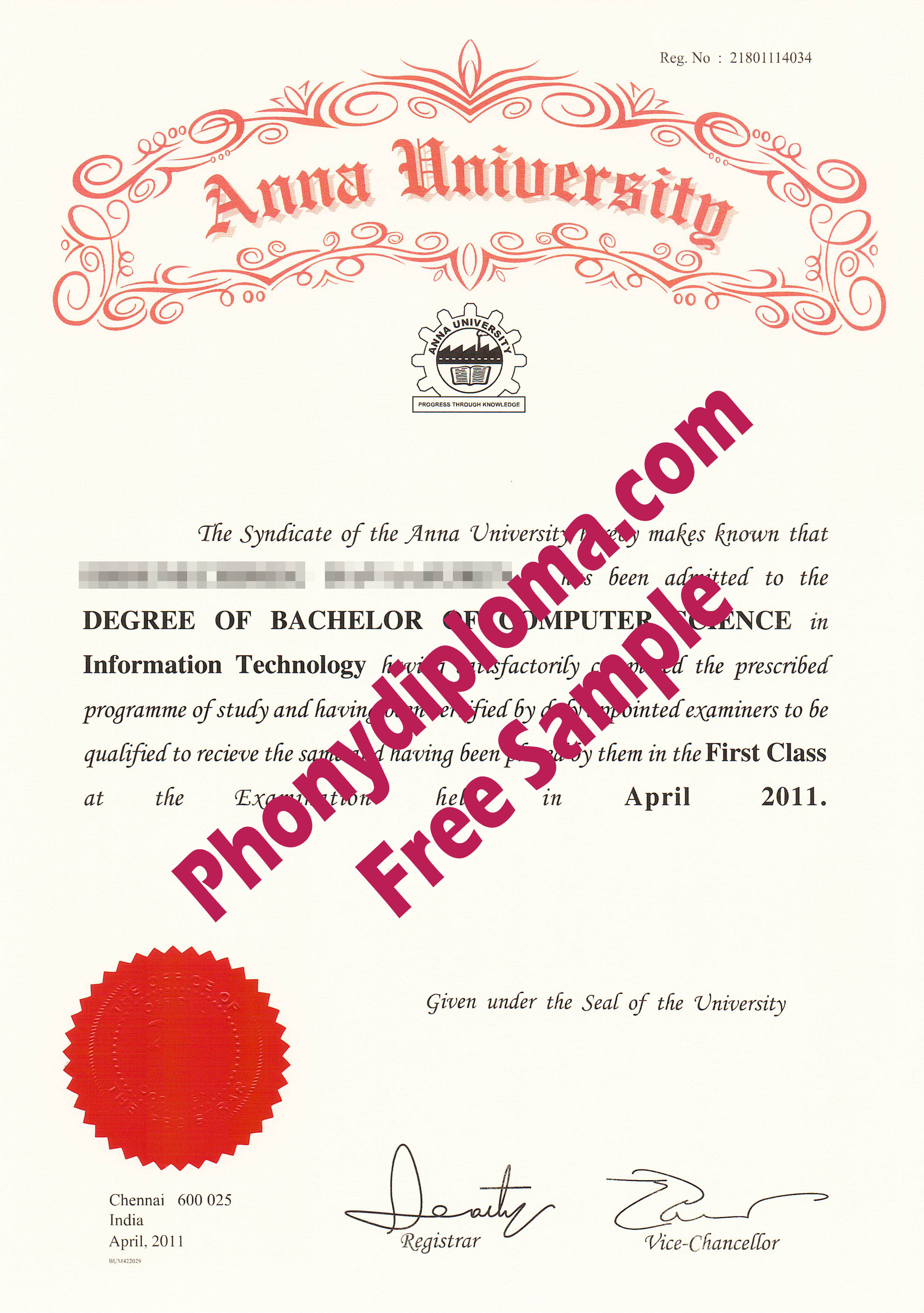 Anna University Free Sample From Phonydiploma (2)