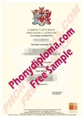 Cardiff University Free Sample From Phonydiploma