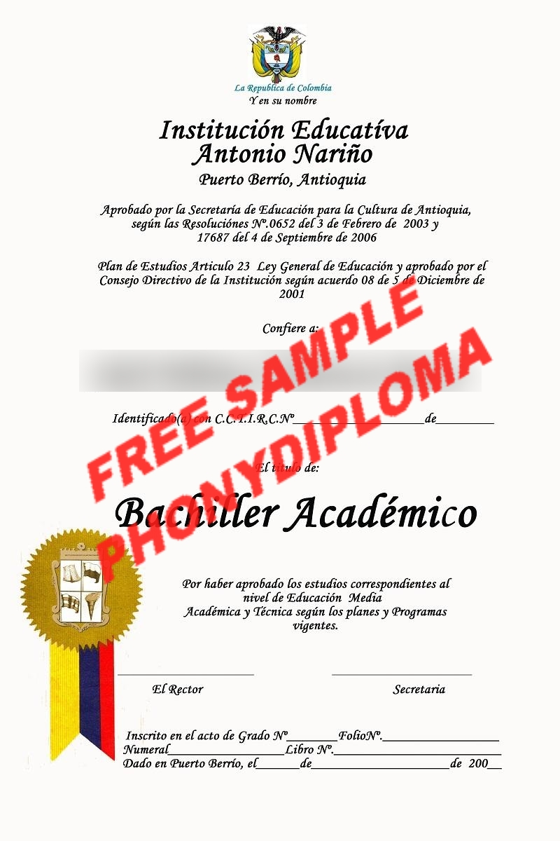 Colombia University Free Sample From Phonydiploma