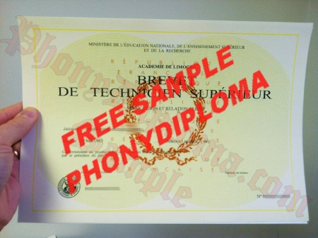 France Brevet De Technicien Limoges Superieur France Photo Free Sample From Phonydiploma