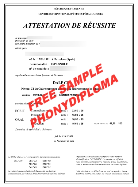 France Dalf C1 Actual Match Transcript Free Sample From Phonydiploma