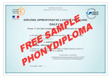 France Dalf C1 Free Sample From Phonydiploma