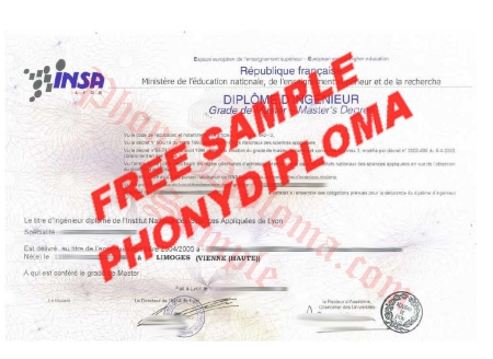 France Diplome D'ingenieur France Limoges Vienne Haute Franch Free Sample From Phonydiploma