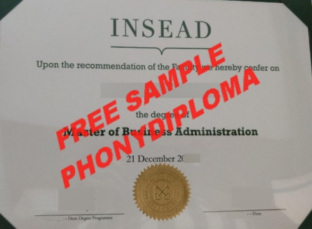 France Insead Business School Free Sample From Phonydiploma