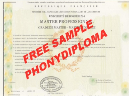 France Universite Bordeaux Montesquieu Free Sample From Phonydiploma