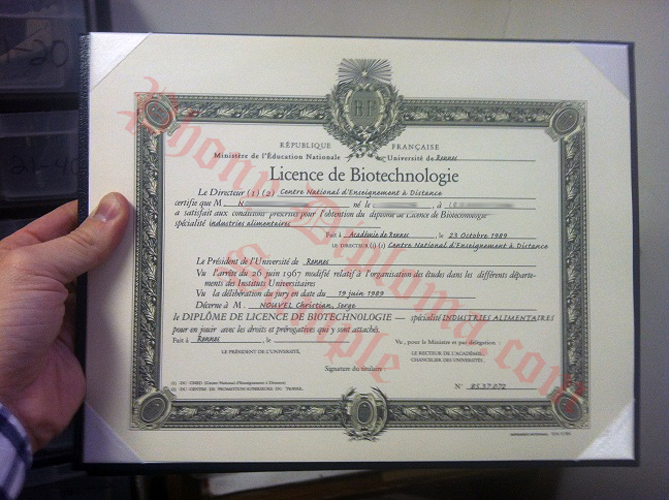 Licence De Biotechnologie French Fake Diploma Sample From Phonydiploma