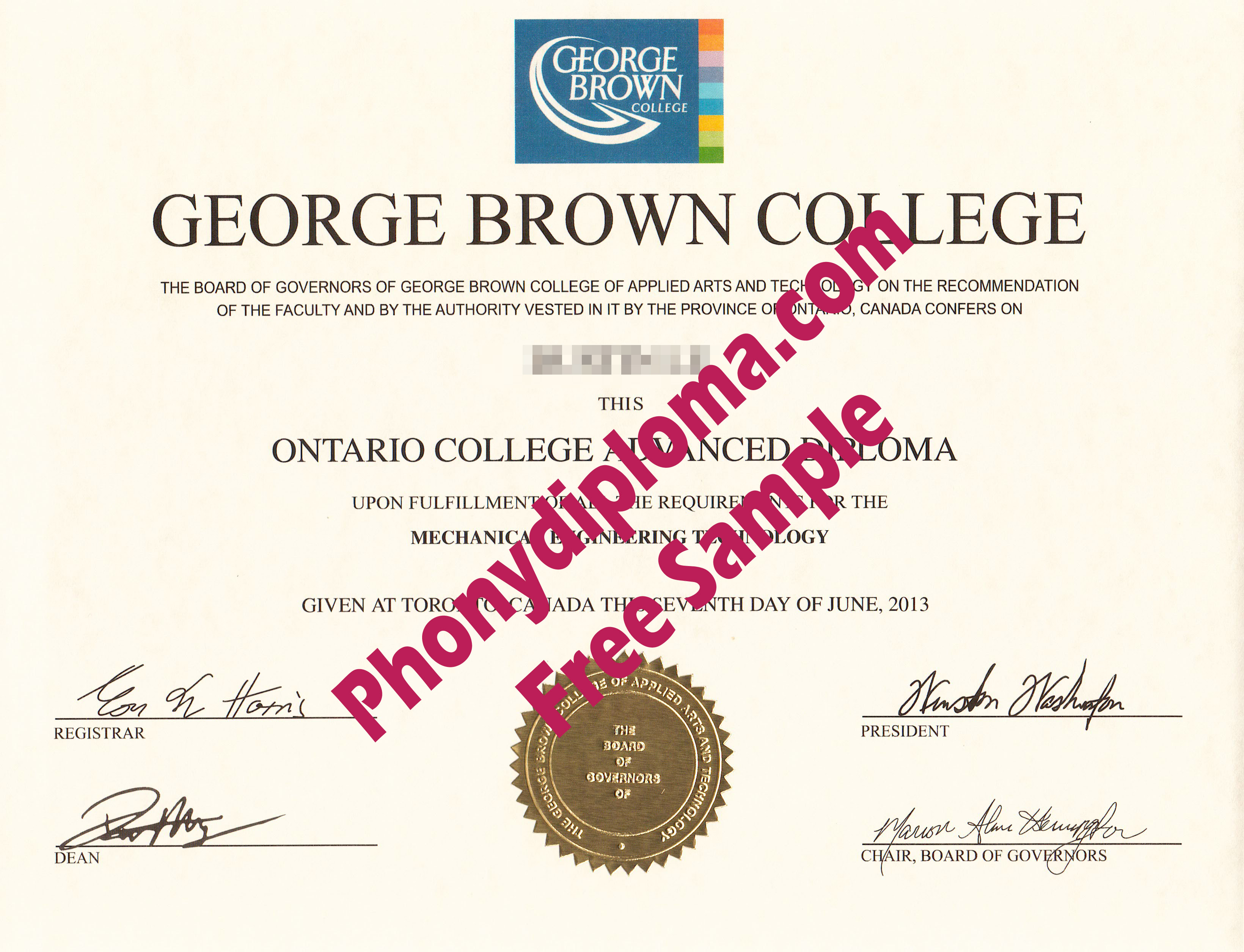 George Brown College Ontario College Free Sample From Phonydiploma