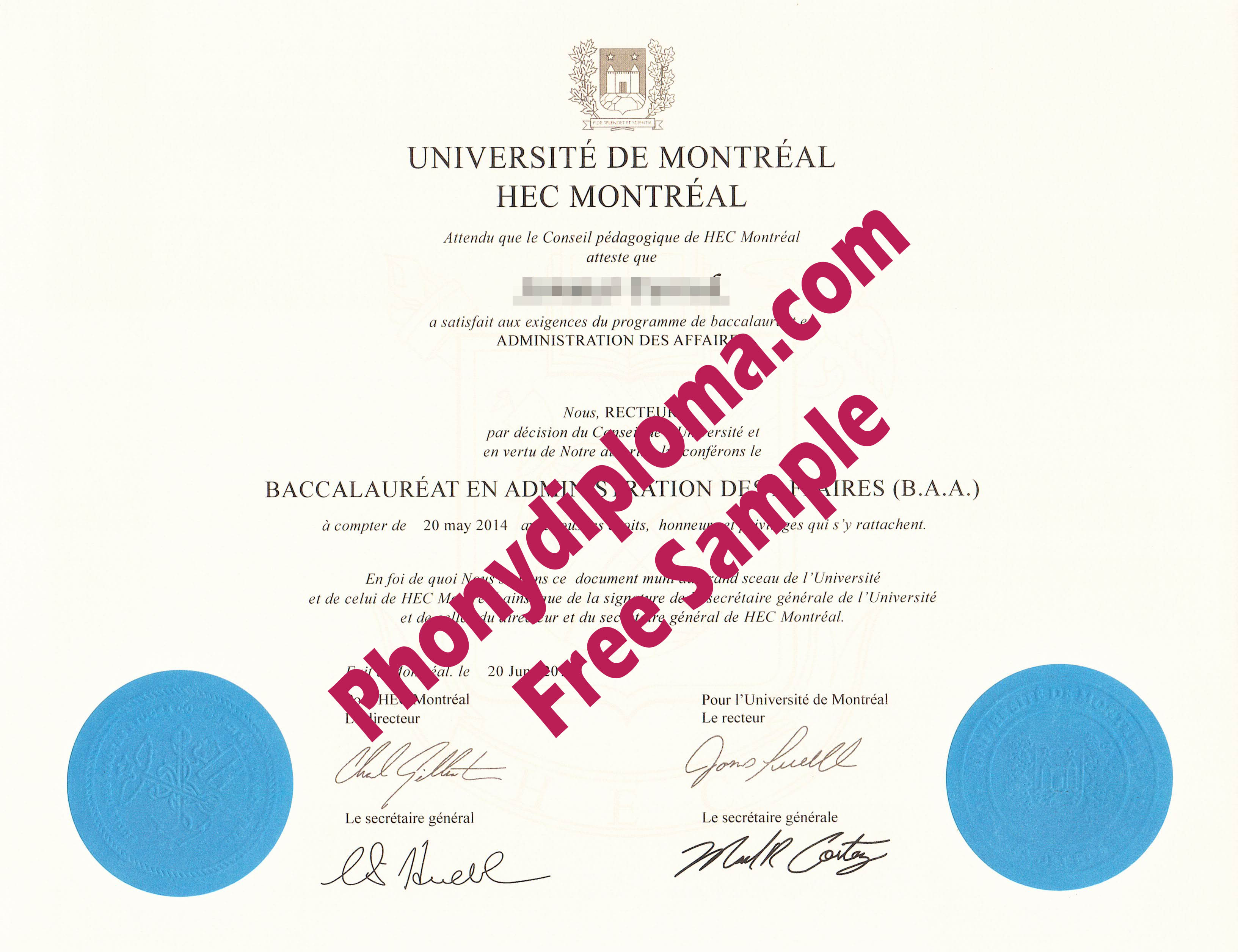 Hec Universite De Montreal Free Sample From Phonydiploma