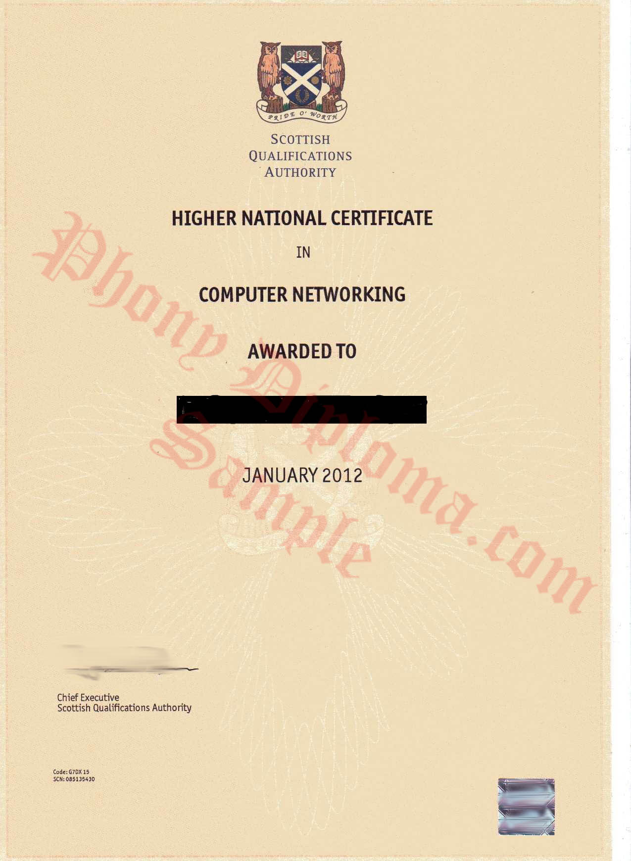 Hnc Or Hnd Scottish Qualification Authority Free Sample From Phonydiploma