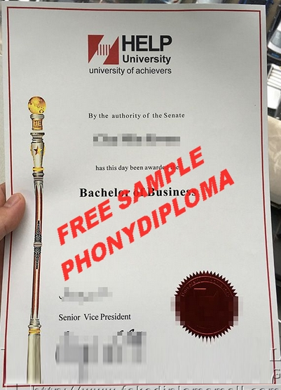 Help University Malaysia Diploma Free Sample From Phonydiploma