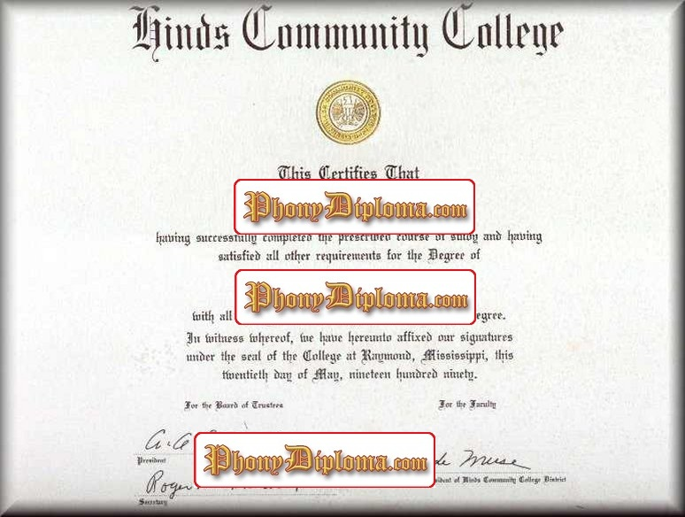 Hinds Cummunity College Free Sample From Phonydiploma