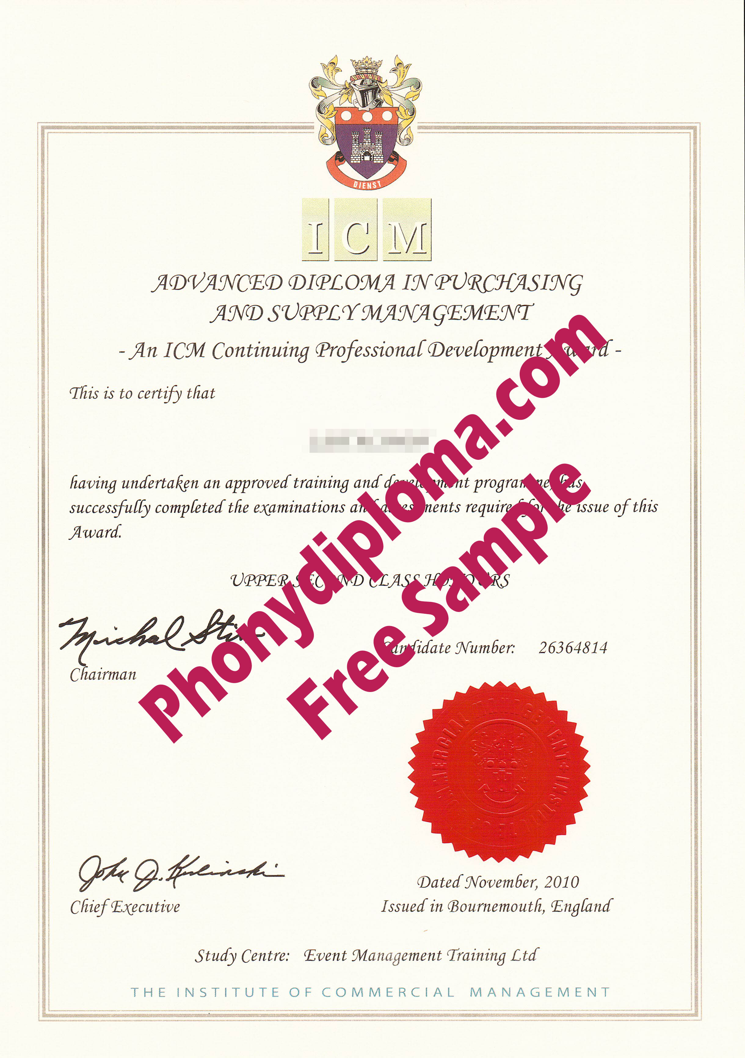 Icm Commercial Management Free Sample From Phonydiploma
