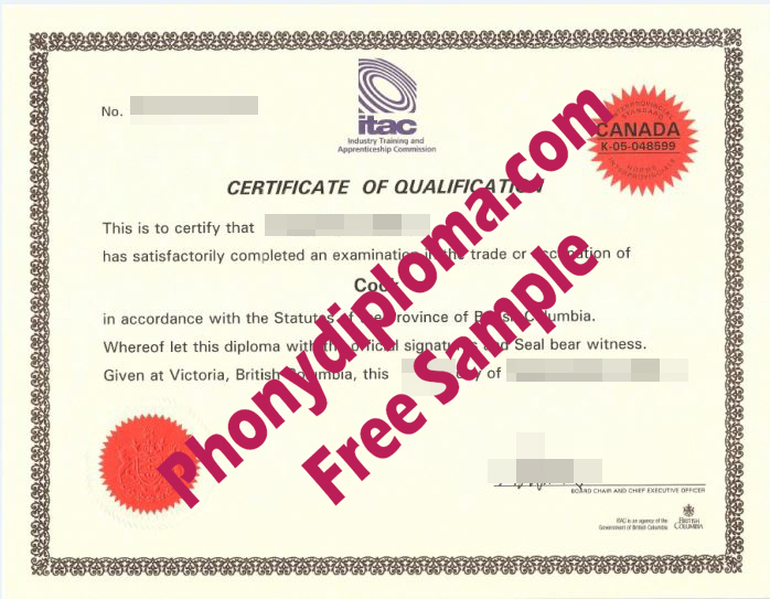 Itac Red Seal Cook Canada Free Sample From Phonydiploma