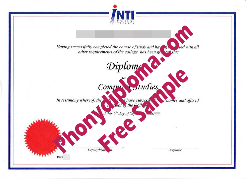 Inti International College Malaysia Free Sample From Phonydiploma