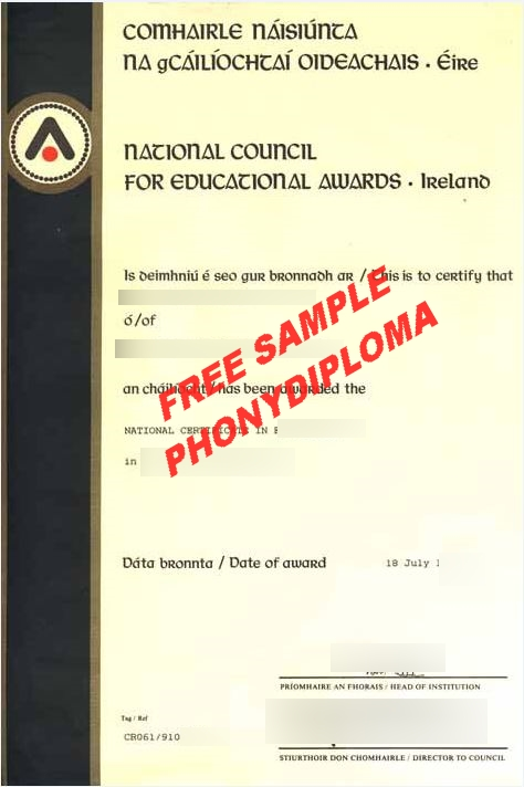Ireland National Council For Educational Awards Free Sample From Phonydiploma