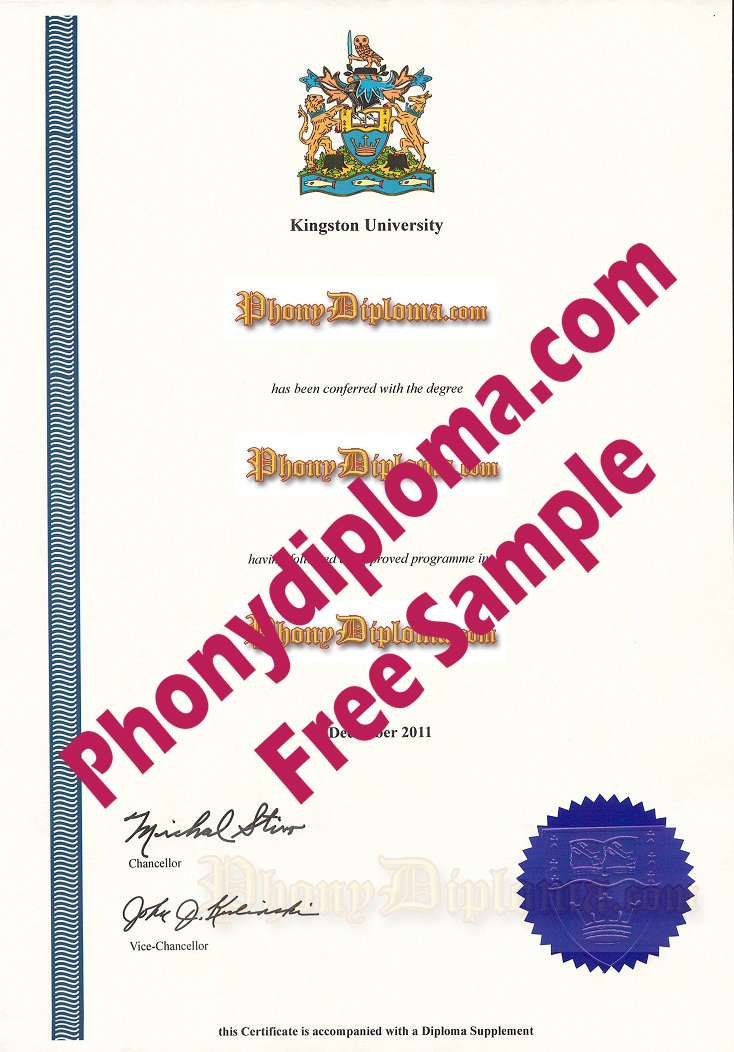 Kingston University Free Sample From Phonydiploma
